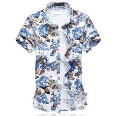 LONMMY 6XL 2017 Summer Men shirt dress camisa social Brand clothing men shirts Slim fit Short sleeves shirts plus size clothing