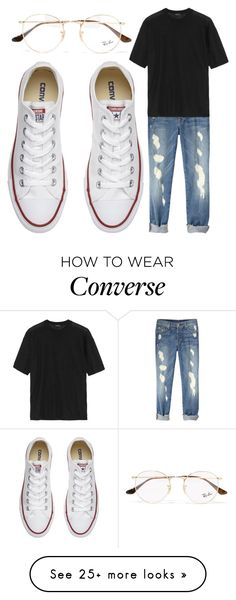 """""""Untitled #1463"""" by mayanderson on Polyvore featuring Ray-Ban, Joseph and Converse"""