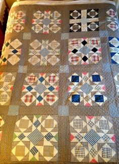 Nice Antique/Vintage Quilt Late 1800s Blacks, Indigos, Pinks, All Hand Done, eBay, aqrita