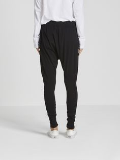 slouch jersey pant III / black