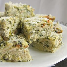 Spinach and Artichoke Matzo Kugel for Passover