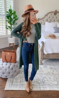 Winter Fashion Trends - Winter Outfits for Work Cute Spring Outfits, Casual Fall Outfits, Fall Winter Outfits, Feminine Fall Outfits, Comfortable Fall Outfits, Flannel Outfits, Cardigan Outfits, Casual Wear, Mode Outfits
