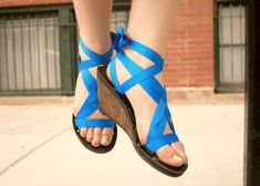 Cuña alta cinta Slide sandalia de Mohop  Calzado Vegano por mohop