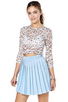 True Blue Tennis Skirt Like this.