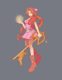 kingdom hearts art | Tumblr Character Design, Kingdom Hearts Art, Fantasy Artwork, Fantasy Collection, Final Fantasy Aerith, Art, Anime, Final Fantasy Tattoo, Final Fantasy Artwork