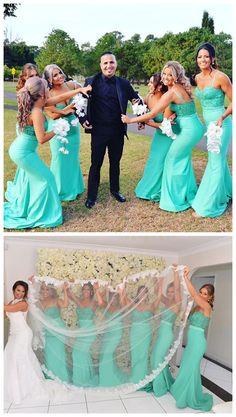 Spaghetti Straps Bridesmaid Dresses,Mermaid Bridesmaid Dress,Popular bridesmaid