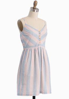 Festive Carnival Striped Dress | Modern Vintage Dresses