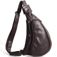 Sale 21% (48.29$) - Genuine Leather Retro Shoulder Bag Chest Bag For Men
