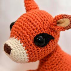 Crochet Fawn amigurumi soft toy plush doll stuffed by MsToosh