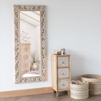 Mobili Da Bagno Maison Du Monde.Specchio In Mango Scolpito 54x130 Cm Specchio Con Cornice In
