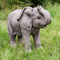 Hi-Line Gift Ltd. Elephant With Trunk Up Indoor/Outdoor Statue Hi-Line Gift Ltd. Elephant With Trunk Elephant Trunk Up, Cute Baby Elephant, Cute Baby Animals, Baby Elephants, Fluffy Cows, Elephant Photography, Elephants Photos, Elephant Sculpture, Outdoor Statues