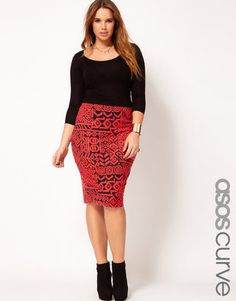 I have boots like this.....but never thought about wearing with a skirt..especially as a curvy girl.....hmmmm