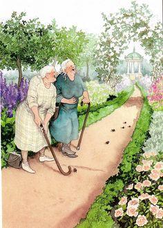 inge look - old ladies golfing jaybeepostcards, via Flickr