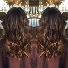 60 Chocolate Brown Hair Color Ideas for Brunettes Thin Caramel Highlights For Black Hair Ombre Hair Color, Hair Color Balayage, Brown Hair Colors, Brunette Color, Hair Color Ideas For Black Hair, Haircolor, Hair Bayalage, Hair Color Ideas For Brunettes Balayage, Long Brunette