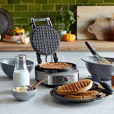 Breville No-Mess Classic Round Waffle Maker #williamssonoma