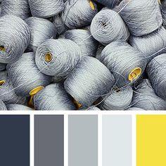In Color Balance - Color Palette Colour Pallette, Colour Schemes, Color Patterns, Color Combos, Paint Combinations, Silver Color Palette, Pantone Azul, Monochrome, Grey Yellow