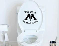 Harry Potter decal This Way to The Ministry of by UniqueGraphix… lol, love this