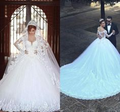 Nice New White/Ivory Lace Wedding Dress Bridal Ball Gown Custom Size 6-8-10-14-16++++ 2017-2018 Check more at http://dressesshop.top/product/new-whiteivory-lace-wedding-dress-bridal-ball-gown-custom-size-6-8-10-14-16-2017-2018-2/