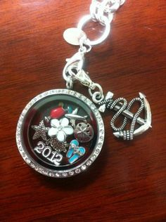 Anchor dangle and 2012 charm (retired) from 2012 catalog.