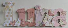 Nome decorado em MDF e Scrap personalizado para decoração de quarto, porta maternidade, festas... Tema e cores a sua escolha R$ 65,00