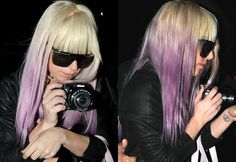 the best lavender dip dye i've yet to see!