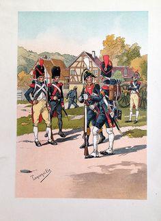 Gravure Artillerie de la Garde Impériale 1er Empire Tanconville | Soldaademohler