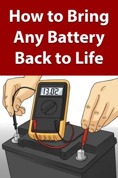 repair diy DIY Battery Reconditioning - Restore An - repair Cordless Drill Batteries, Ryobi Battery, Rv Battery, Diy Home Repair, Homemade Tools, Useful Life Hacks, Alternative Energy, Just In Case, Diy Car