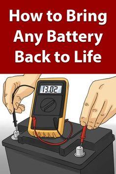 repair diy DIY Battery Reconditioning - Restore An - repair Cordless Drill Batteries, Ryobi Battery, Diy Home Repair, Homemade Tools, Useful Life Hacks, Diy Car, Alternative Energy, Survival Tips, Urban Survival