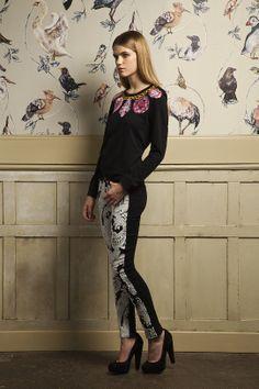 AW13 Trend Embellishment - Paige Emily Pant & Emma Cook Jersey Sweatshirt #denim #sweater #embellishment