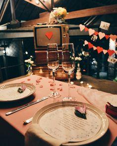 Valentine dinner romantic table decoration • Divine project bali