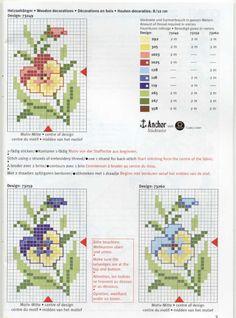 punto cruzgrafico, embroideri pattern, crossstitch, cross stitch patterns, punto de cruz, stitch flower, cross stitches, anchor, cross stitcheri