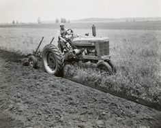 Clean furrows and perfectly tuned over dirt. They don't make them like that anymore.