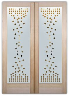 double entry doors frosted glass cubes art deco design sans soucie falling squares