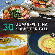 30 Seasonal Soups That Require Zero Cooking Skills #soups #fall #winter #pumpkin