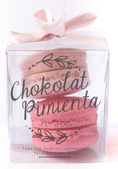 Pretty package of French Macarons. This cute package would be great as wedding favour. Have at reception, on the table for guests alongside their place cards.