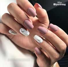 """If you're unfamiliar with nail trends and you hear the words """"coffin nails,"""" what comes to mind? It's not nails with coffins drawn on them. It's long nails with a square tip, and the look has. Cute Acrylic Nails, Matte Nails, Pink Nails, My Nails, Purple Nail, Matte Pink, Autumn Nails Acrylic, Squoval Acrylic Nails, S And S Nails"""