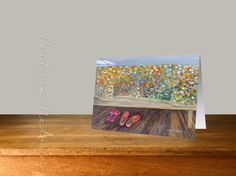 10 Slippers and Quilt Note Cards and Envelopes by CorissaNelsonArt, $19.00