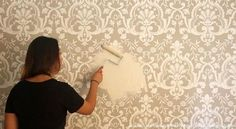 [VIDEO DIY TUTORIAL] How to Stencil a Beautifully Raised Embossed Wall Designs with Joint Compound Plaster - Royal Design Studio Wall Stencils