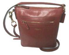 Coach Leather Swingpack Crossbody Bag Cognac Brown | eBay