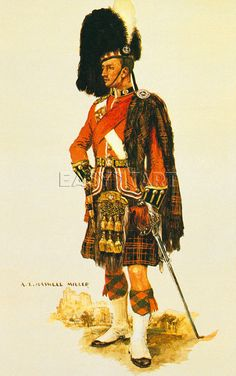 BRITISH ARMY - The Queen's own Cameron Highlanders by A.E. Haswell Miller