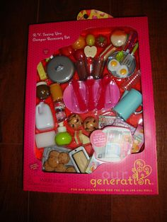 """Our Generation RV Camper Accessory Set Food 18"""" Doll Camping American Girl New #ourgeneration"""