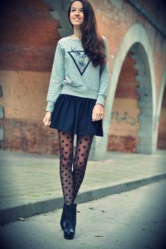 I love this jumper with the black skater skirt.