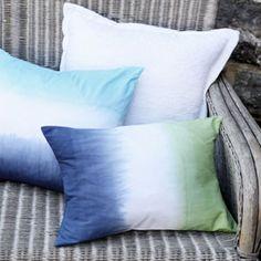 Design a dip-dye cushion cover: free sewing pattern