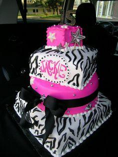 hot pink zebra cake by Royalty_Cakes, via Flickr