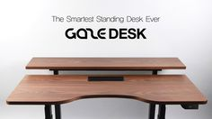 The World's Smart Standing Desk Ever. Dual Lift system and Bluetooth…