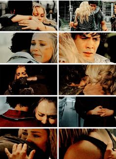 Bellamy and Clarke have the BEST hugs!