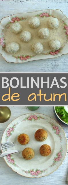 If you like tuna, you'll love this recipe. It's a simple and different recipe of balls prepared with tuna, potatoes and some spices, fried with breadcrumbs. It's the perfect recipe for a picnic with friends. Tuna Balls Recipe, Yummy Appetizers, Appetizer Recipes, Veggie Recipes, Fish Recipes, Fishball Recipe, Tuna Meat, Portuguese Recipes, Portuguese Food