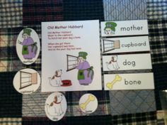 """""""Old Mother Hubbard"""" Flannel Board Rhyme, Props & Vocabulary Cards: Laminated--Just add Velcro/Magnetic Tape or Craft Sticks! 
