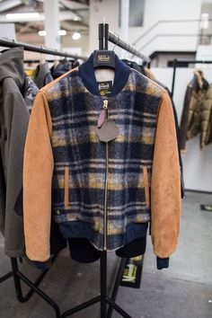Originally made in Milwaukee and famous for its leather jackets in the early 20th century, this American outerwear specialist has now come to Europe - and any aspiring Gosling out there would appreciate this Italian-made woven wool and lamb suede bomber. monarch-milwaukee.com