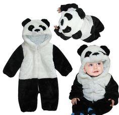 Baby Kid Toddler Panda Animal Onesie Bodysuit Romper One-Piece Halloween Costume